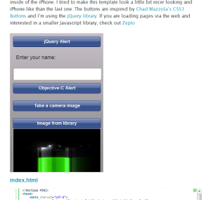 An iOS5 Ready Native Web app template
