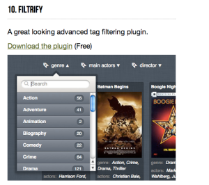 filtrify, a kind of jQeury plug-in