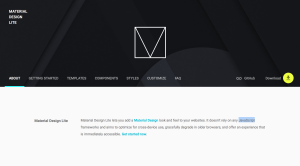 Material Design Lite Homepage